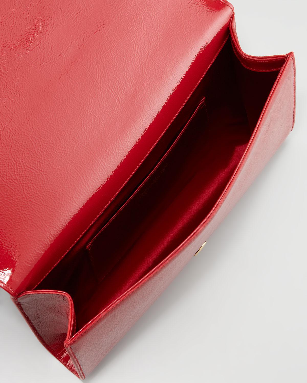 yve saint laurent bags on sale - Saint laurent Belle Du Jour Clutch Bag in Red (rouge) | Lyst