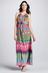 Camilla Rivera Printed Maxi Dress - Lyst