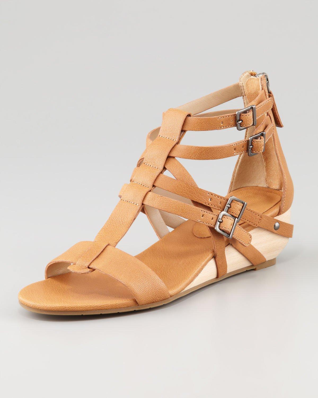 034cca85bf1b Lyst - Eileen Fisher Echo Lowwedge Gladiator Sandal in Brown