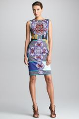 Etro Sleeveless Printed Sheath Dress - Lyst