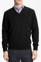 Thomas Dean Vneck Merino Wool Sweater - Lyst