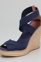 Tory Burch Stretch Espadrille Wedge - Lyst
