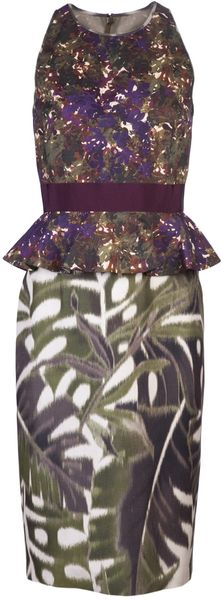 Giambattista Valli Sleeveless Print Dress - Lyst