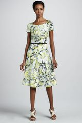 Carolina Herrera Baroque Print Twill Dress - Lyst