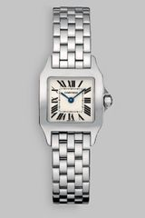 Cartier Santos Demoiselle Stainless Steel Watch On Bracelet Small - Lyst
