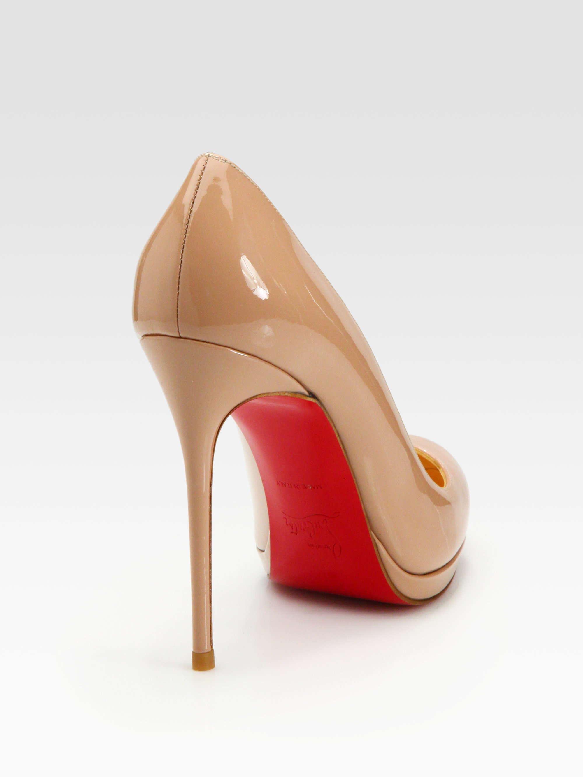 christian louboutin patent leather pigalle pumps