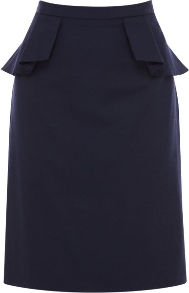 coast coast jina peplum skirt navy in blue navy lyst