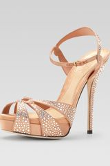 Gucci Crystal Covered Strappy Sandal - Lyst