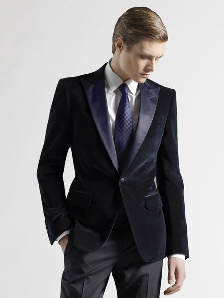 Gucci Evening Jacket In Blue For Men Navy Lyst