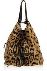Jérôme Dreyfuss Alain Animal print Calf Hair Bucket Bag - Lyst