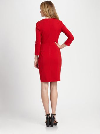 La Via 18 Peplum Jersey Dress - Lyst