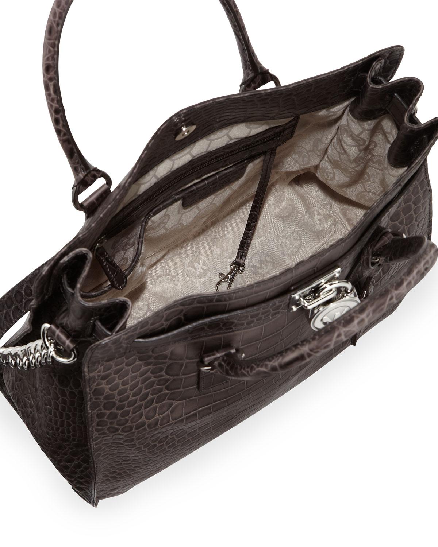michael kors tasche bag hamilton ew satchel black java. Black Bedroom Furniture Sets. Home Design Ideas