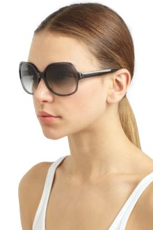 Nina Ricci Oversized Round Translucent Braided Sunglasses - Lyst