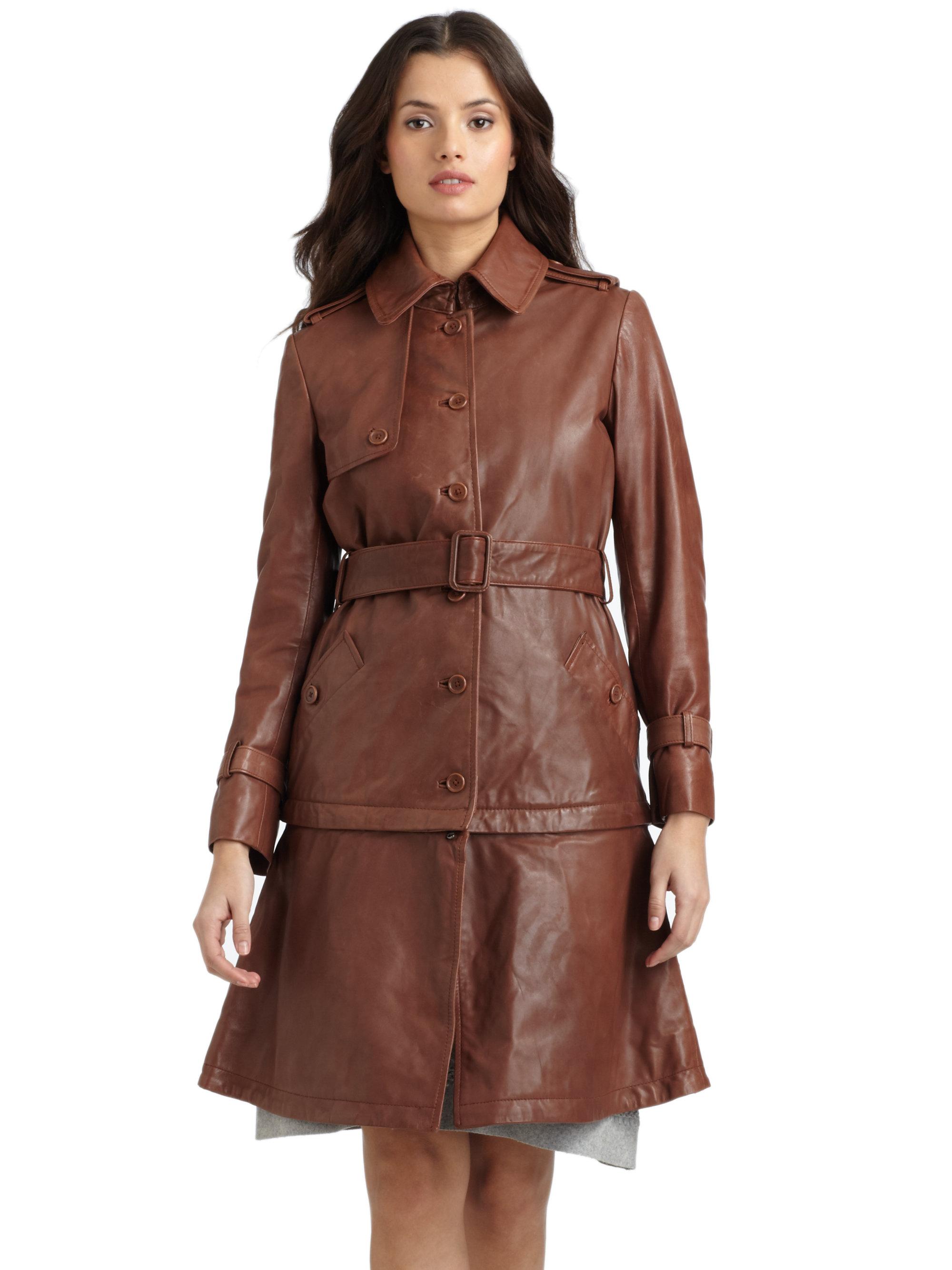 Lyst - Philosophy Di Alberta Ferretti Belted Leather Convertible ... f57e49cf6