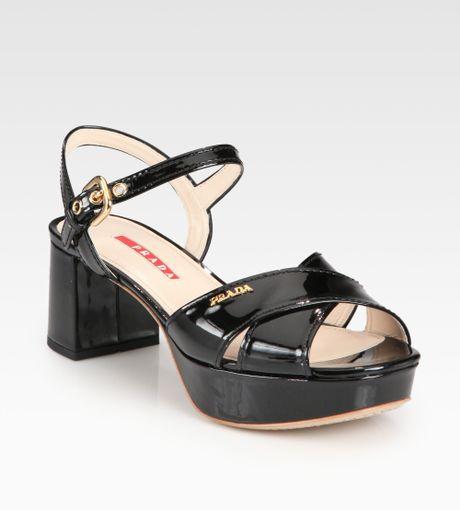 b9d9d3c5 Black Platform Sandals: Prada Black Platform Sandals