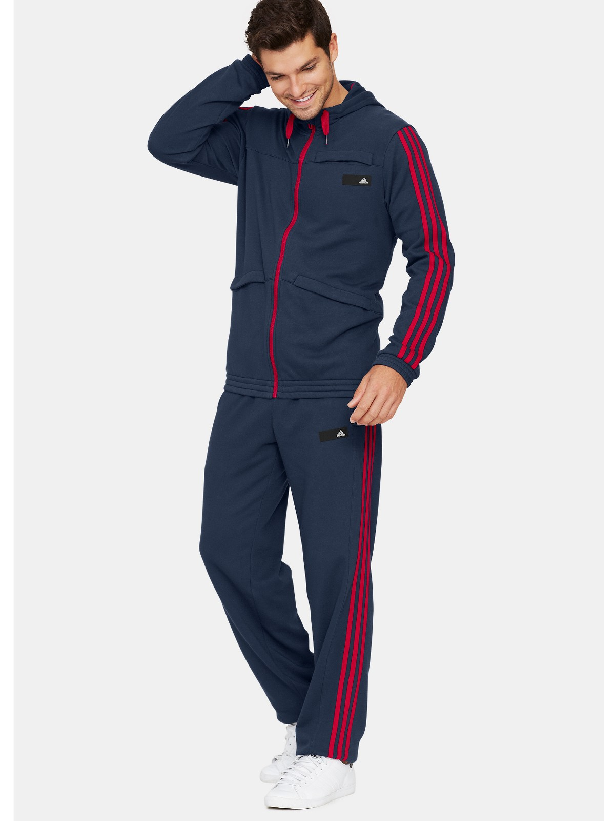 Adidas Adidas Mens Sweat Tracksuit In Blue For Men Navy
