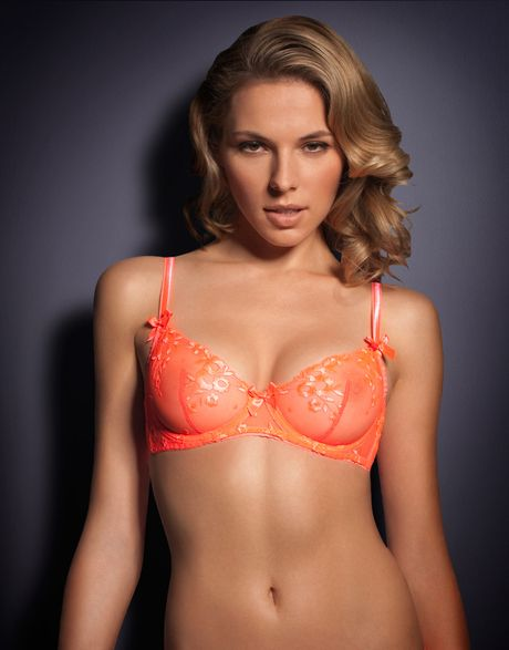 Agent Provocateur Sheer Bra In Orange Lyst
