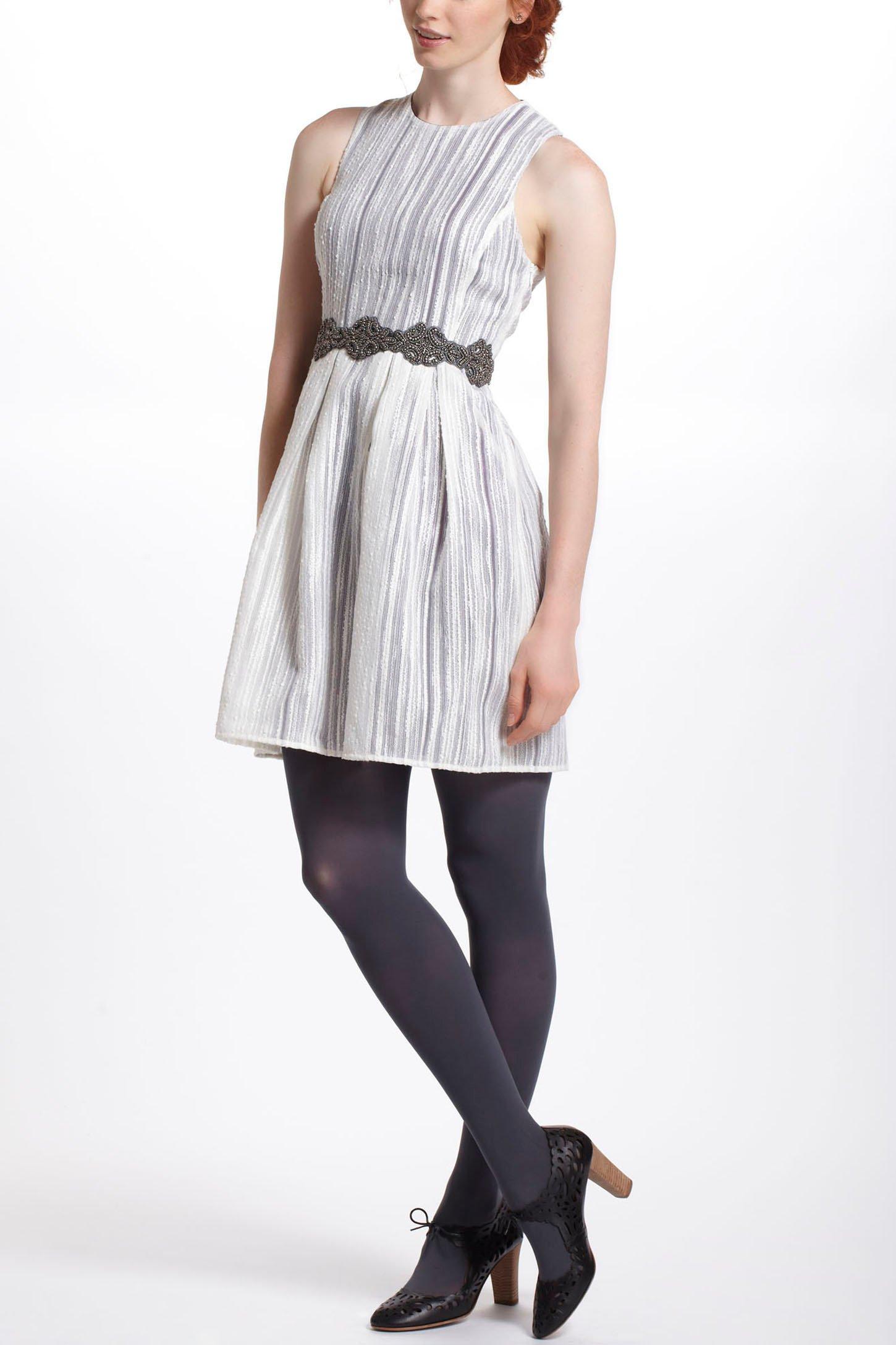 lyst anthropologie spun lace racerback dress in white