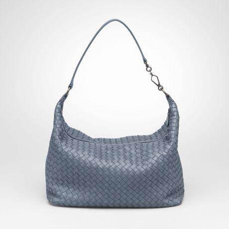 Bottega Veneta Edoardo Intrecciato Nappa Bag in Gray (krim/krim