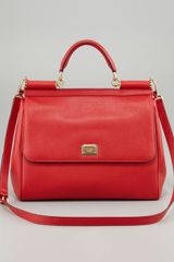 Dolce & Gabbana Miss Sicily Dauphine Leather Flap Bag - Lyst