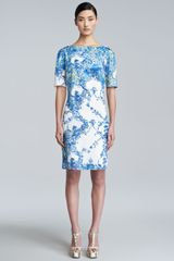 Erdem Bethany Printed Shortsleeve Dress - Lyst