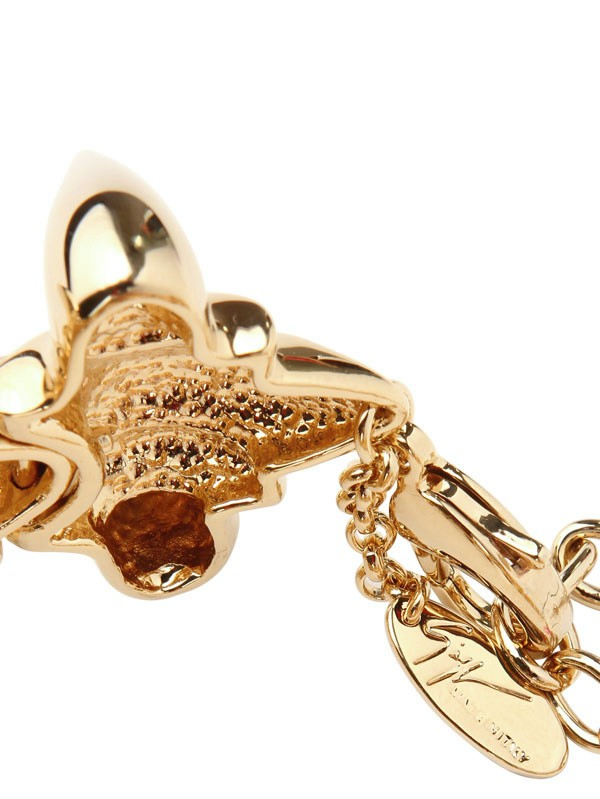 Lyst Giuseppe Zanotti Gold Plated Brass Vertebrae
