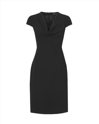 Jaeger Crepe Cowl Neck Dress - Lyst