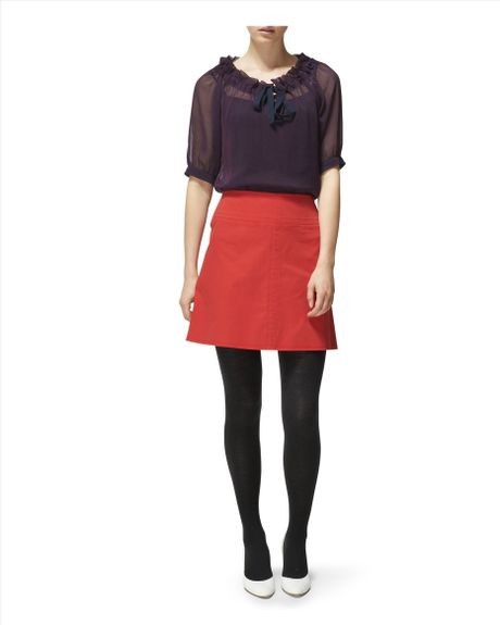 Red A Line Skirt 77