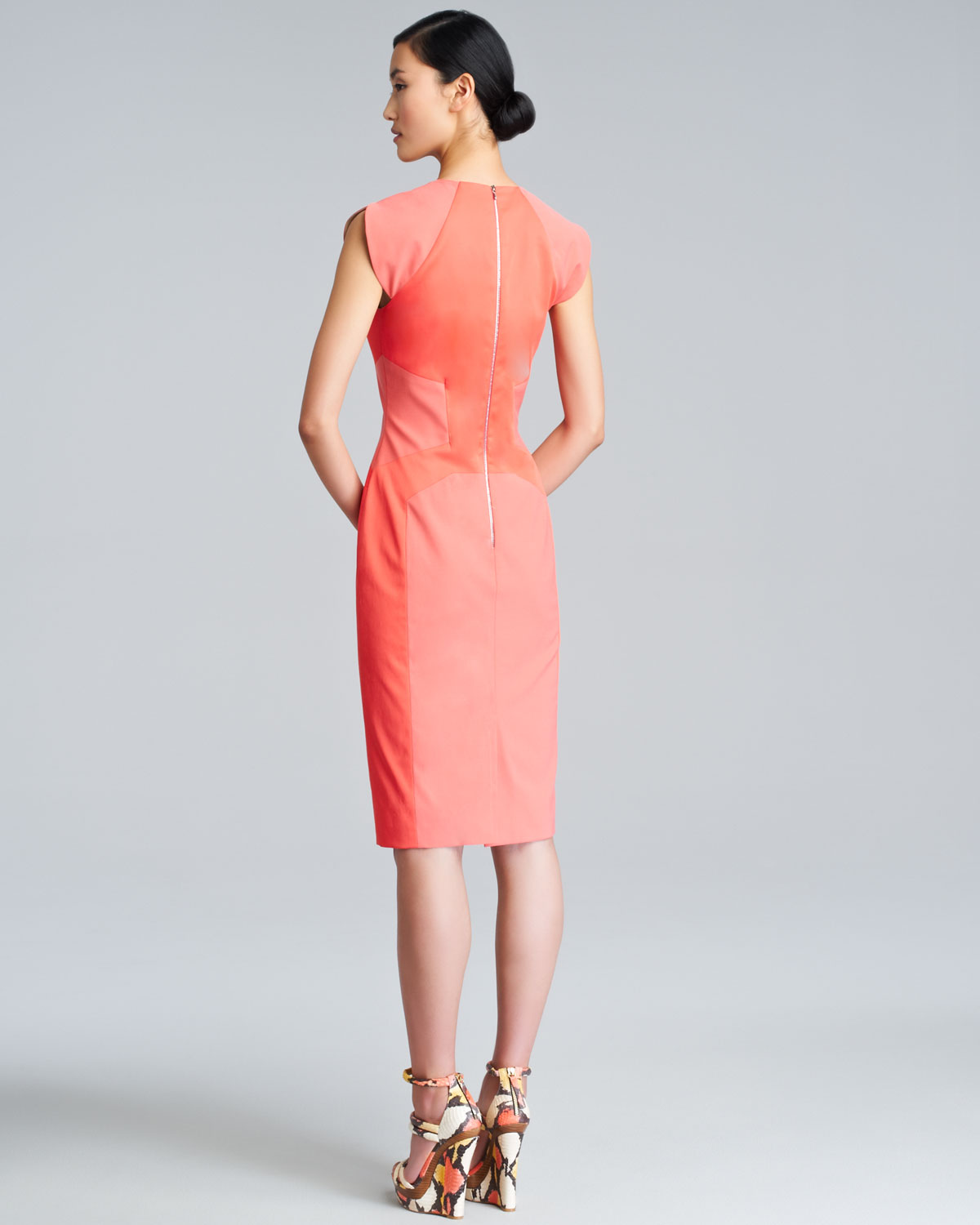 Lela Rose Colorblock Sheath Dress Buy Cheap Store Discount Pick A Best Cheap Sale Countdown Package zBLEbN