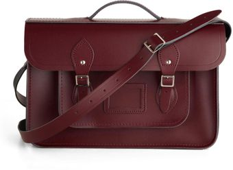 ModCloth Upwardly Mobile Satchel in Oxblood 15 - Lyst
