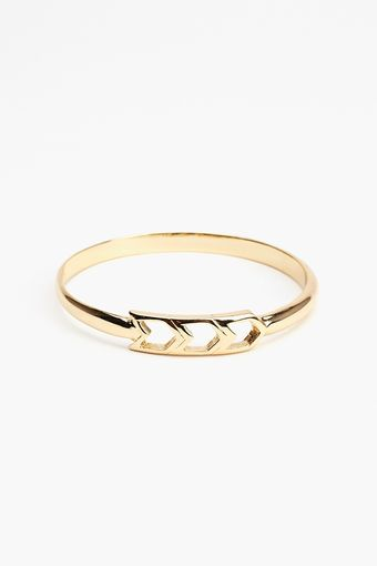 Nasty Gal Straight Arrow Bangle - Lyst
