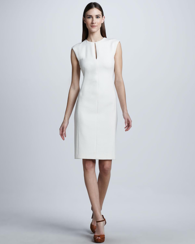 Ralph Lauren Black Label Doublefaced Wool Crepe Dress In