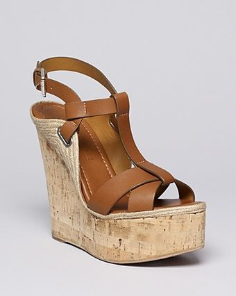 Ralph Lauren Collection Platform Wedge Sandals Fimesa High Heel - Lyst