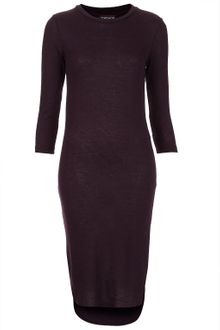 Topshop Fleck Midi Dress - Lyst