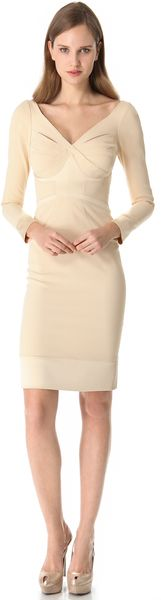 Zac Posen Long Sleeve Dress - Lyst