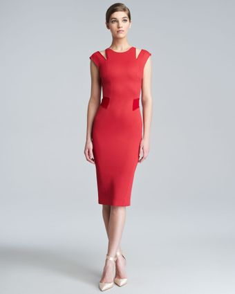 Zac Posen Bondage Jersey Cutout Dress - Lyst
