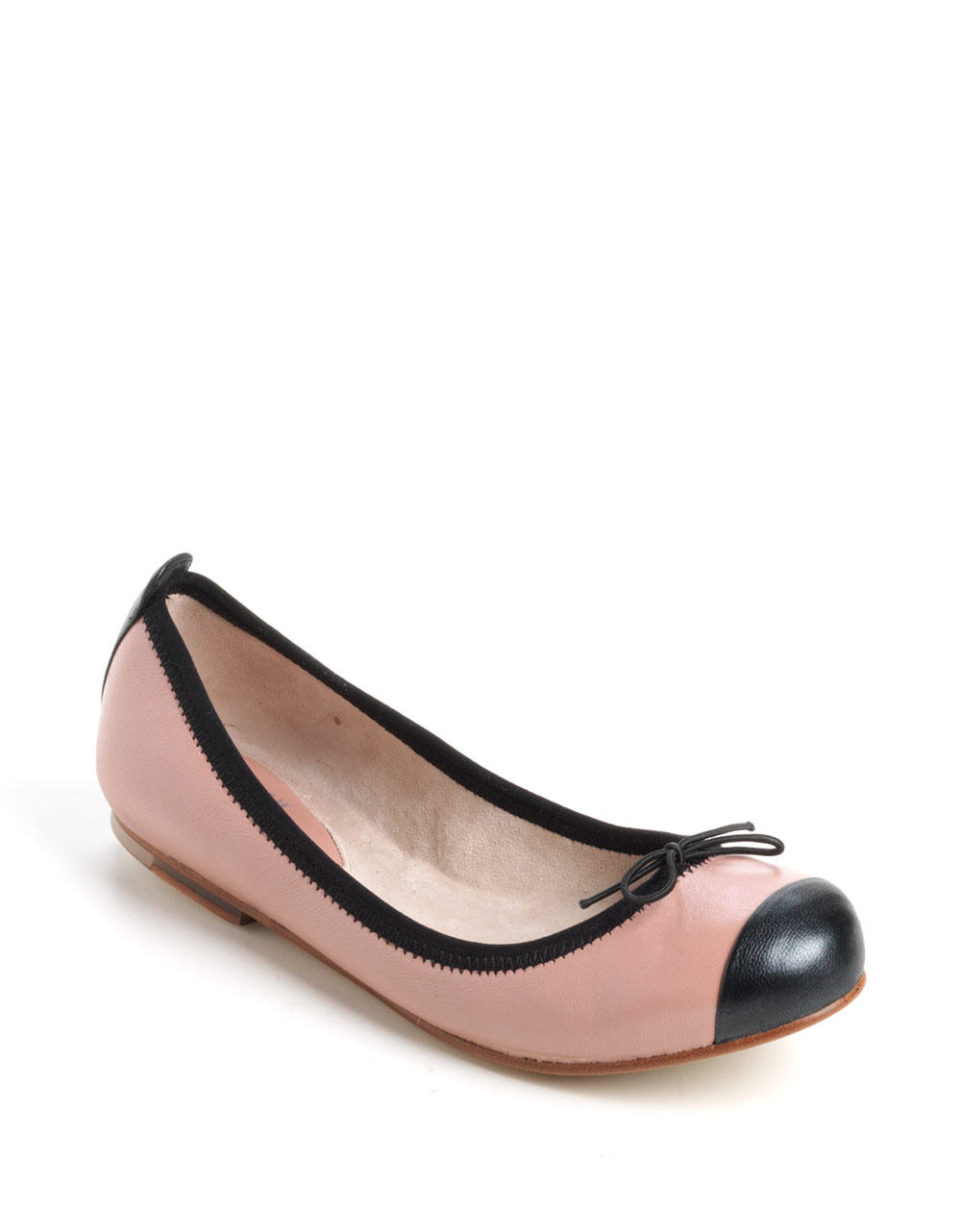 bloch classica pearl leather ballet flats in pink pink