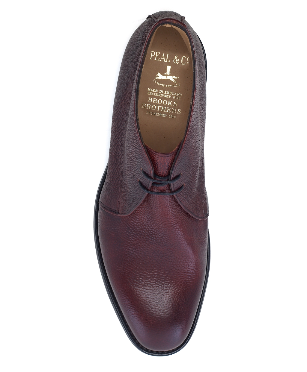 0f13e617e678a Lyst - Brooks Brothers Peal Co Pebble Grain Chukka Boots in Brown ...