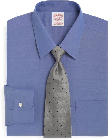 Brooks brothers non iron traditional fit point collar for Brooks brothers dress shirt fit guide