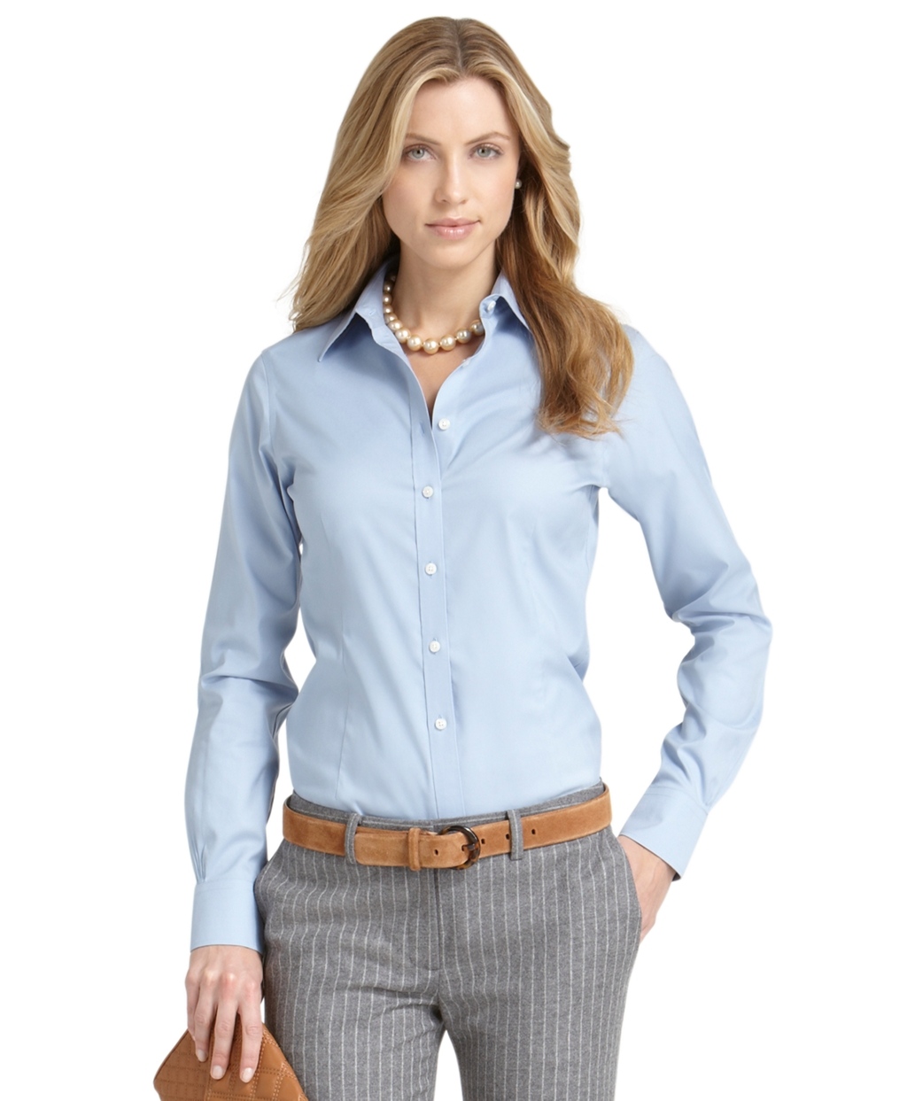 Brooks Brothers Petite Non Iron Tailored Solid Dress Shirt