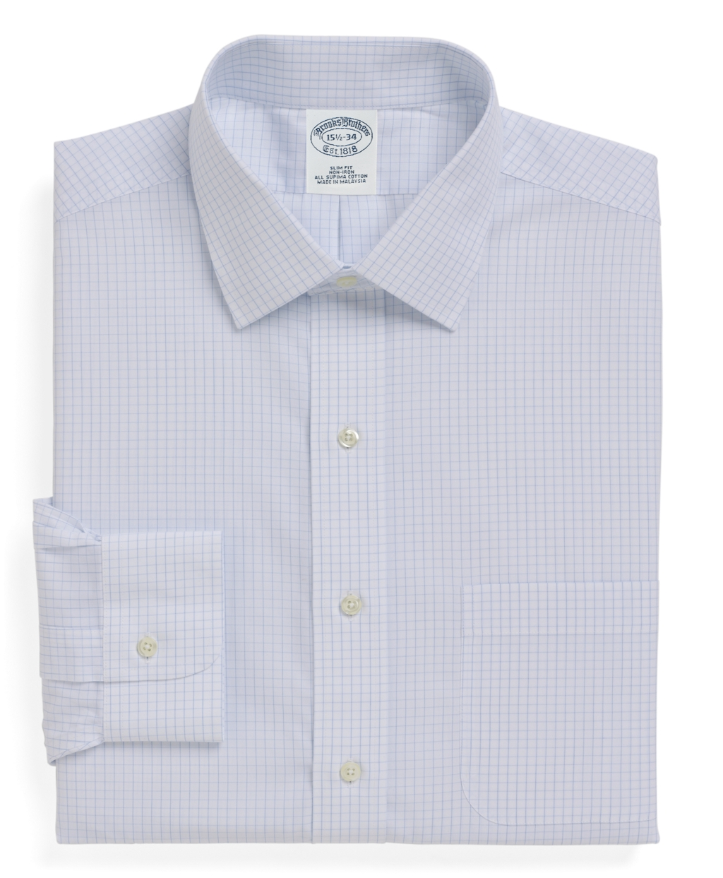 Brooks brothers non iron regent fit medium check dress for Brooks brothers non iron shirts review