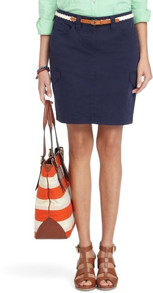 Brooks Brothers Garment Dyed Cargo Skirt - Lyst