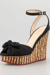 Charlotte Olympia Bambooprint Wedges with Ankle Strap - Lyst