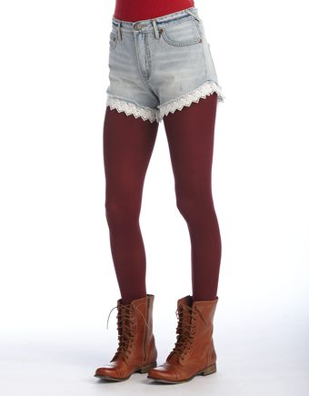 Free People Cutoff Cotton Shorts - Lyst