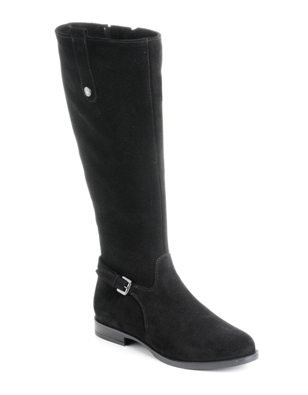 la canadienne lori suede boots in black lyst