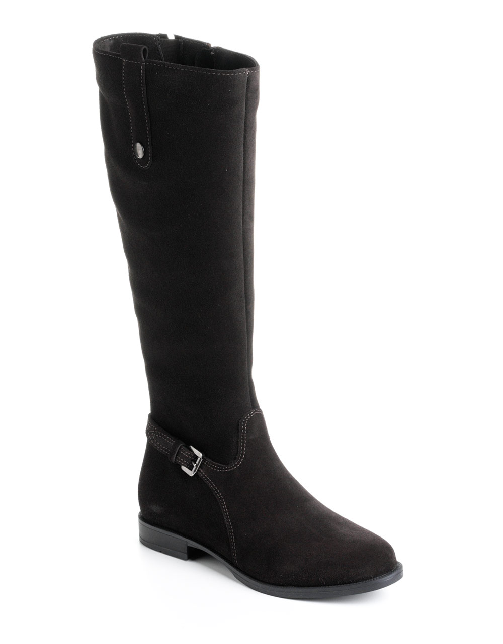 la canadienne lori suede boots in black brown lyst