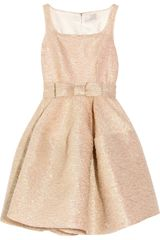 Lanvin Bowembellished Texturedcrepe Dress - Lyst