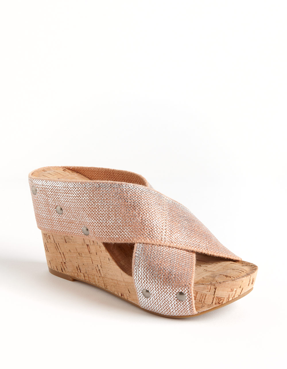 lucky brand miller linen wedge sandals in