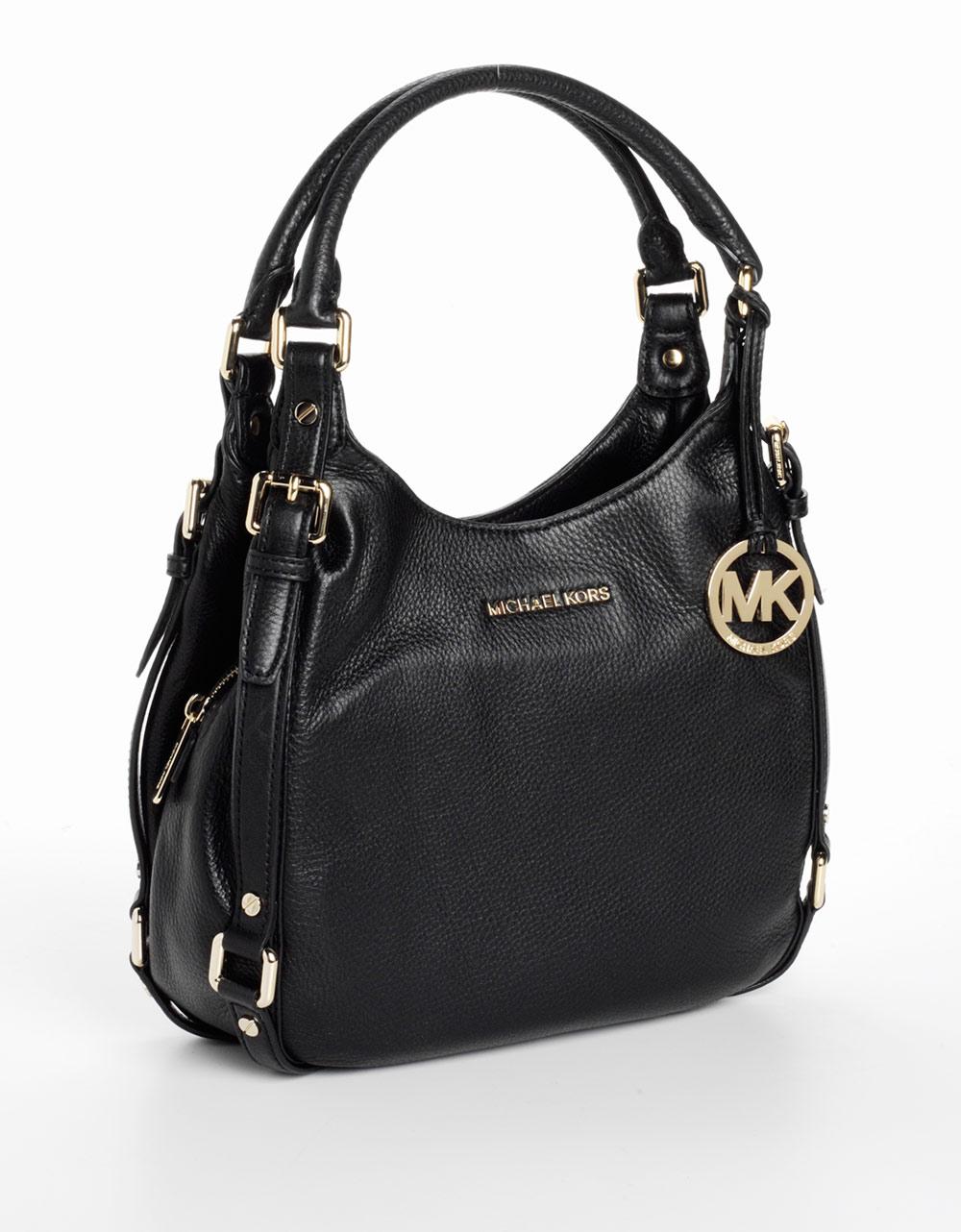 Michael Kors Bedford Black Leather Shoulder Tote Bag 21