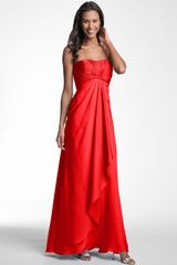 Ml Monique Lhuillier Bridesmaids Strapless Gown Nordstrom Exclusive - Lyst